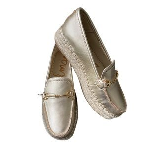 Sam Edelman New Women's Platform Loafer Leather Gold size 6